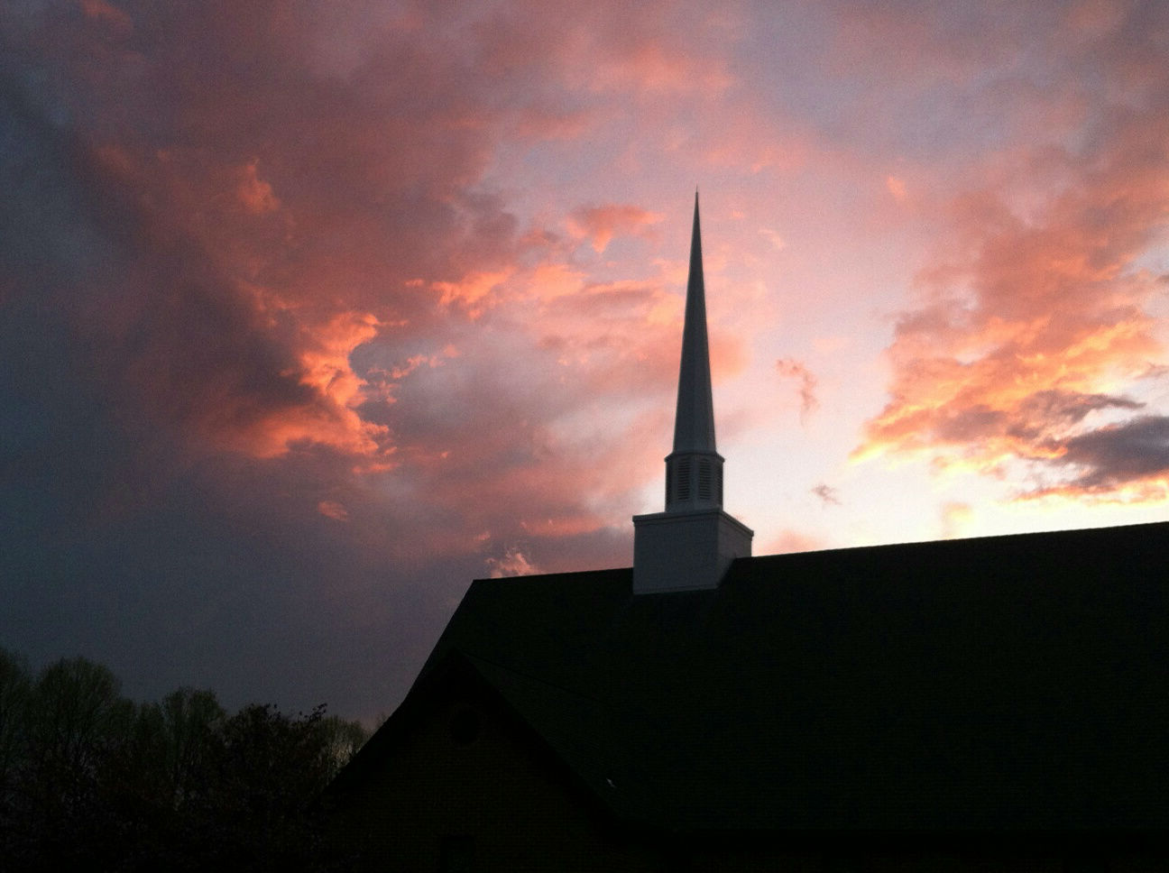 Our steeple at sunset